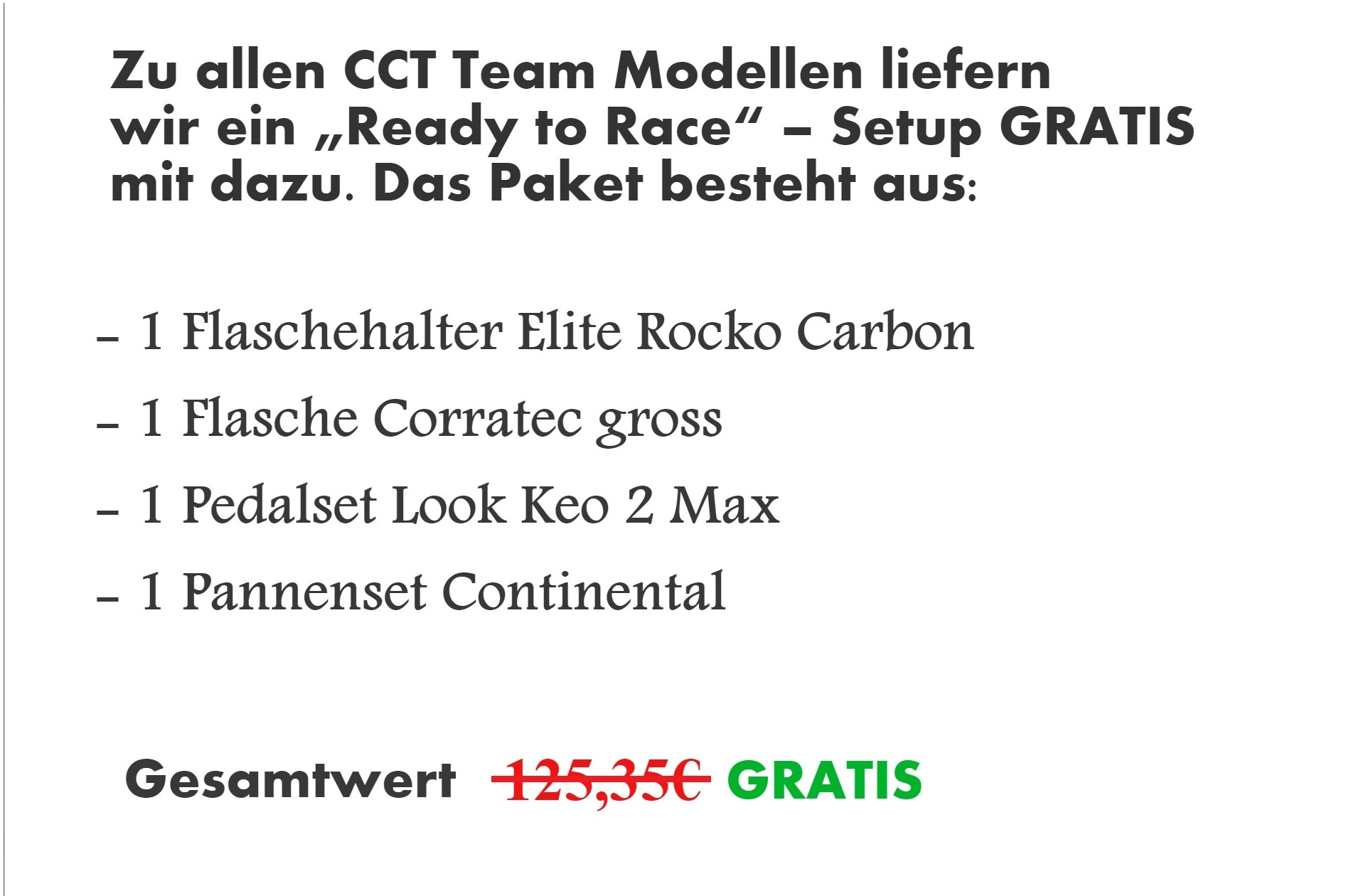 Corratec Rennrad Team Paket